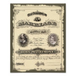 Libro de familia del vintage 1800's impresiones