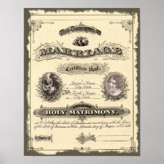 Libro de familia del vintage 1800's poster
