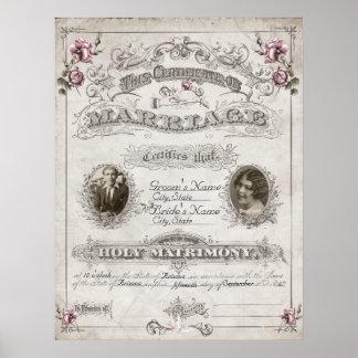 Libro de familia rosado antiguo del vintage de los posters