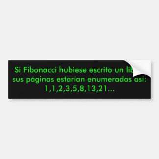 Libro de Fibonacci del EL Pegatina Para Auto