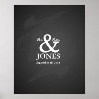 Libro de firma de la huésped alternativa del boda póster