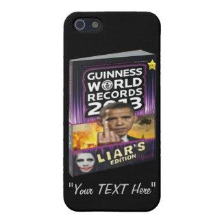 Libro de Guinness de la edición de los mentirosos iPhone 5 Fundas