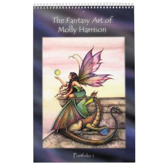 Libro de hadas de la cartera del arte de Molly Har Calendario