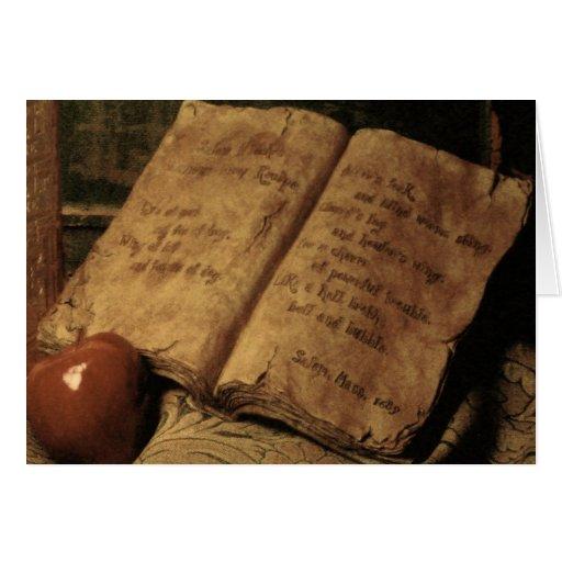 Libro de Halloween de la tarjeta del ~ de las