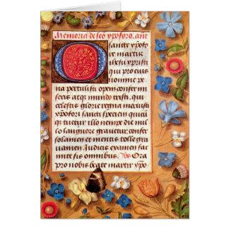 Libro de Hasting de la tarjeta de felicitación de