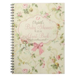 Libro de huésped de la ducha del Floral-Bebé del Libreta