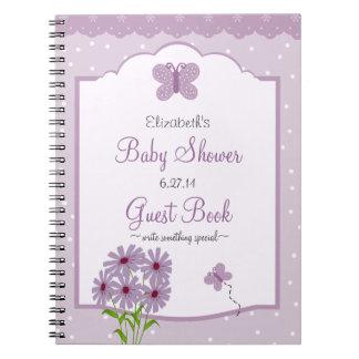 Libro de huésped de la ducha del Mariposa-Bebé de  Libros De Apuntes