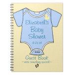 Libro de huésped de la fiesta de bienvenida al beb
