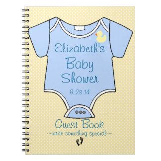 Libro de huésped de la fiesta de bienvenida al beb libro de apuntes con espiral