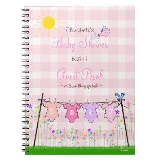 Libro de huésped de la fiesta de bienvenida al beb libros de apuntes