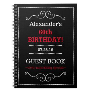 Libro de huésped de la fiesta de cumpleaños note book