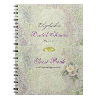 Libro de huésped Jardín-Nupcial de la ducha del Vi Libro De Apuntes