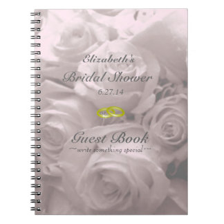Libro de huésped Rosa-Nupcial de la ducha Libretas Espirales
