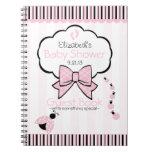 Libro de huésped rosado de la fiesta de bienvenida libretas