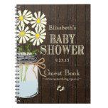 Libro de huésped rústico de la ducha del País-Bebé Cuadernos