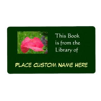Libro de la biblioteca del verde conocido de etiqueta de envío