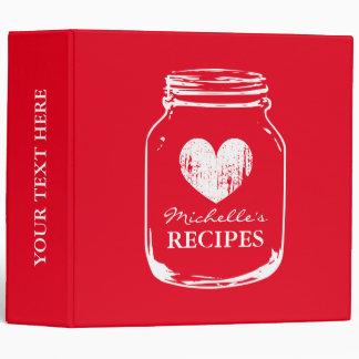 Libro de la carpeta de la receta de la cocina del