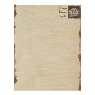 "Libro de la casa encantada antigua fantasmagórica folleto 8.5"" x 11"""