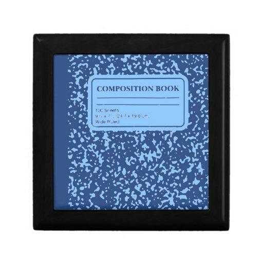 Libro de la composición cajas de recuerdo
