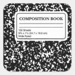 Libro de la composición pegatina cuadrada