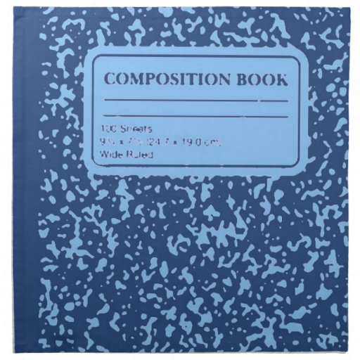 Libro de la composición servilleta