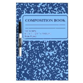 Libro de la composición tableros blancos