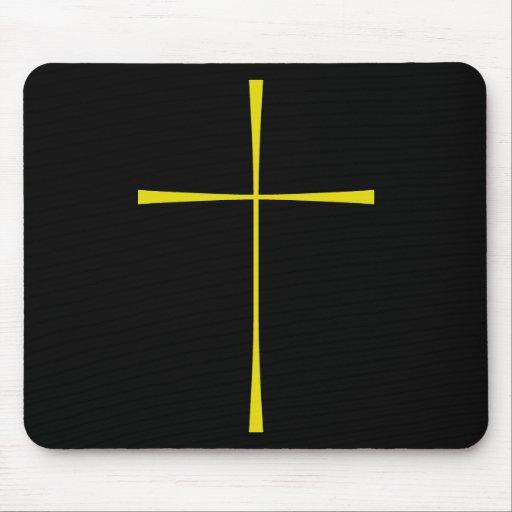 Libro de la cruz de la oración común tapetes de ratón