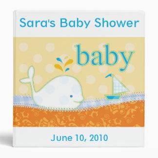 Libro de la ducha de la carpeta del bebé