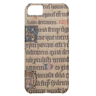 Libro de la escritura del latín medieval de las funda para iPhone 5C