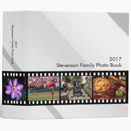 Libro de la foto de la tira de la película