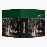 Libro de la foto del arbolado - verde oscuro (los