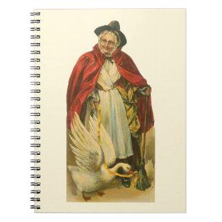 Libro de la historia de la mamá ganso del libreta