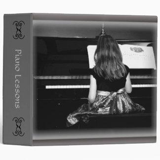 """Libro de la lección de piano o de las hojas de carpeta 2"""""""