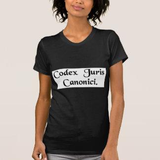 Libro de la ley de canon camisetas