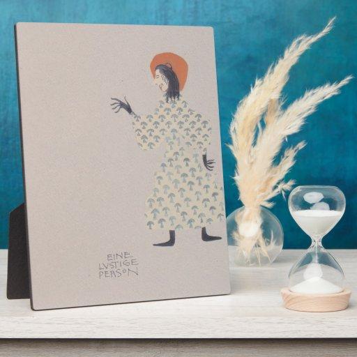 Libro de la Moser-Imagen de Koloman para la sobrin Placa