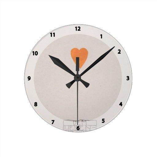 Libro de la Moser-Imagen de Koloman para la sobrin Reloj De Pared