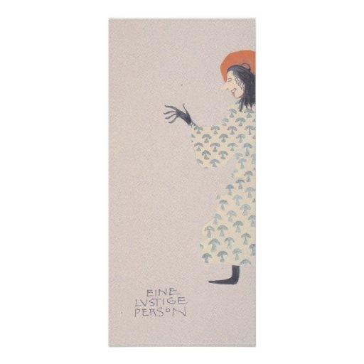 Libro de la Moser-Imagen de Koloman para la sobrin Tarjetas Publicitarias Personalizadas