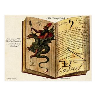 Libro de la postal de las bebidas espirituosas