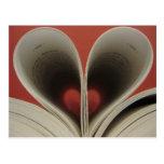 Libro de la postal de los corazones