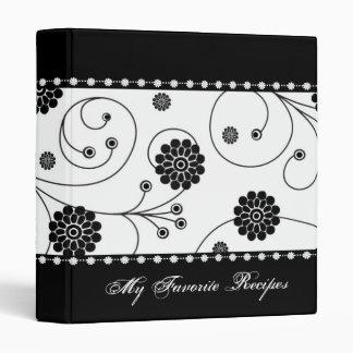 Libro de la receta de la bandera de la floración d