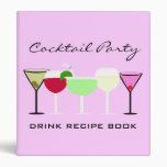 Libro de la receta de la bebida del cóctel