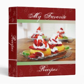 Libro de la receta de la torta de frutas de la fre