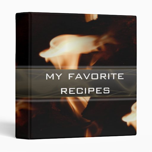 Libro de la receta del collage de la llama
