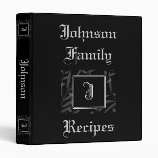 Libro de la receta del monograma de J
