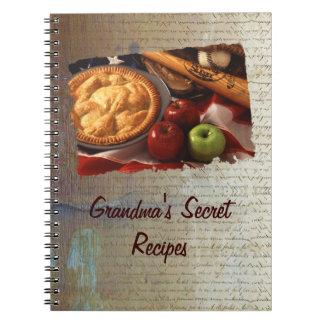 Libro de la receta libro de apuntes