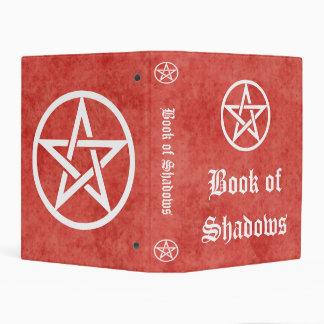 Libro de las brujas del estilo rojo del vintage mini carpeta