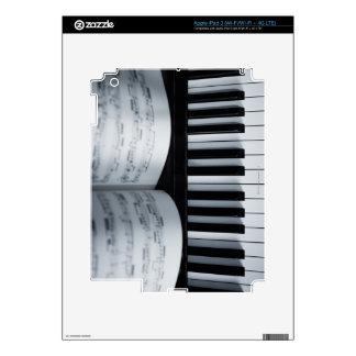 Libro de las llaves y de música del piano pegatina skin para iPad 3