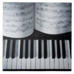 Libro de las llaves y de música del piano teja