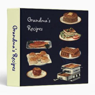 """Libro de las recetas del vintage, toda la cocina a carpeta 1 1/2"""""""