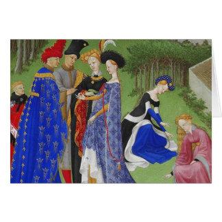 Libro de las señoras y de los señores medievales tarjeta de felicitación